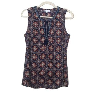 DR2 Sleeveless Top with Tie at Neck, size Small